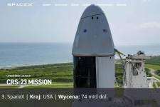 SpaceX, Kraj: USA, Wycena: 74 mld dol.
