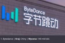 Bytedance, Kraj: Chiny, Wycena: 140 mld dol.