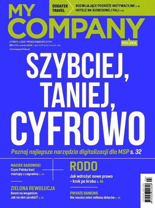 Miesięcznik My Company Polska - Wydanie 4/2018 (31)