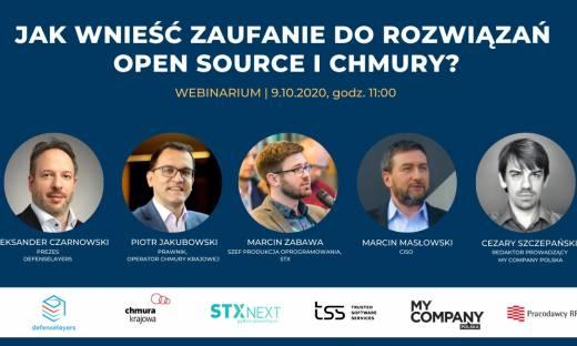 Jak wnieść zaufanie do rozwiązań open source i chmury? Zapraszamy na webinar