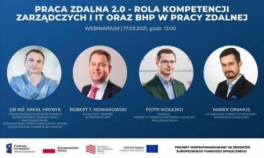 Webinarium Praca zdalna 2.0 - rola kompetencji zarządczych i IT oraz BHP w pracy zdalnej