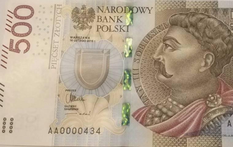 Banknot 500 zł na aukcji za nawet 2900 zł