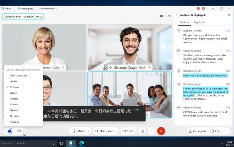 Cisco usprawnia swoją flagową platformę. Webex rozpozna twoje gesty i przetłumaczy rozmowę