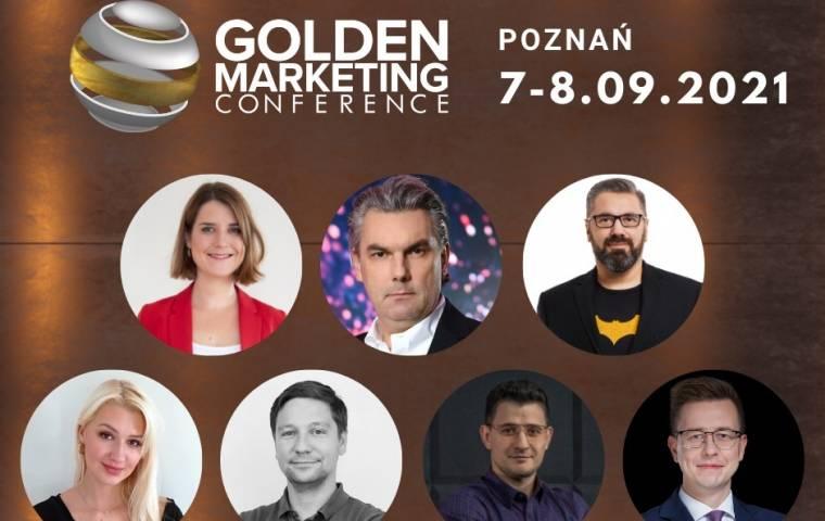 Janina Bąk, Paweł Tkaczyk, Aleksander Poniewierski i TikTok na Golden Marketing Conference