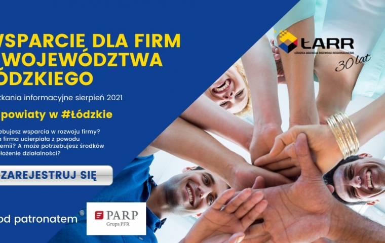 Wsparcie dla firm z województwa łódzkiego