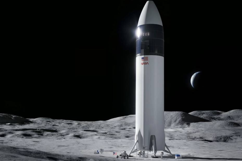 Ilustracja projektu SpaceX Starship / Fot. SpaceX.