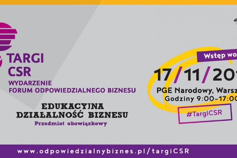 Edukacyjna działalność biznesu na 6. Targach CSR