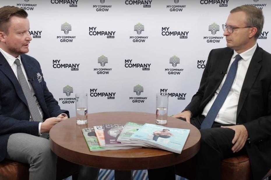 Paweł Borys, prezes PFR i Grzegorz Sadowski, My Co