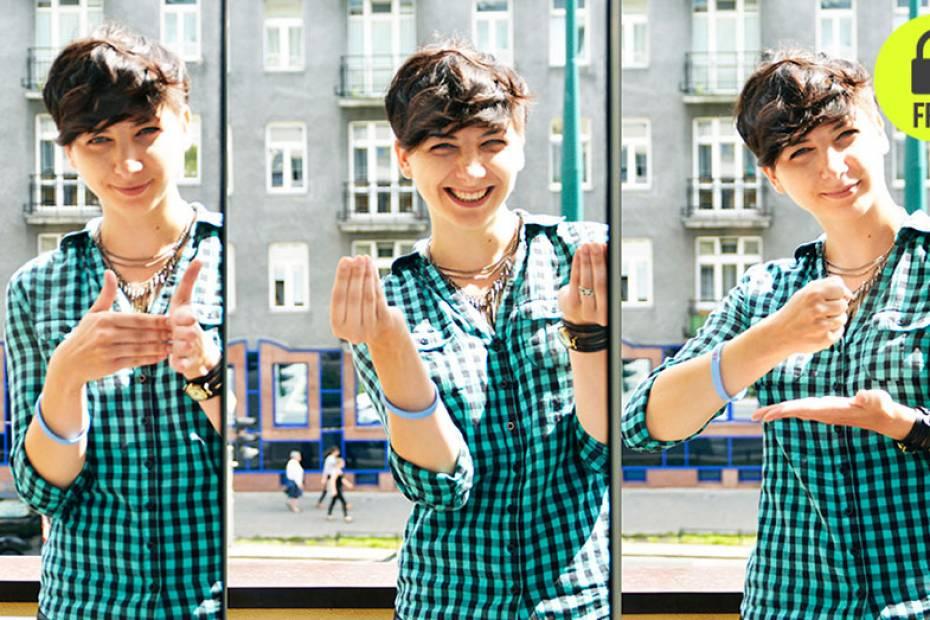 Agnieszka Osytek zauroczyła się językiem migowym jako nastolatka. Zaczęła się go uczyć pięć lat temu.