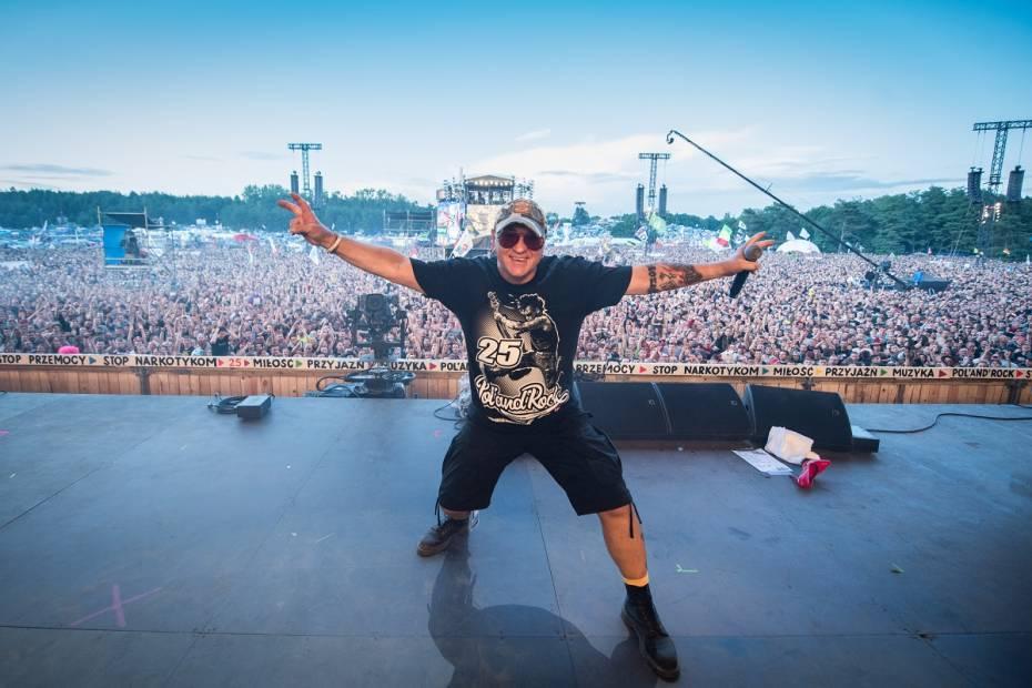 Jurek Owsiak na Pol`and`rock Festival